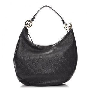 Gucci, Black Guccissima GG Twins medium Hobo bag